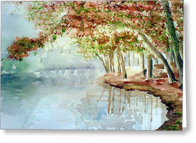 Lakeside In The Carolinas Greeting Card by Ahonu