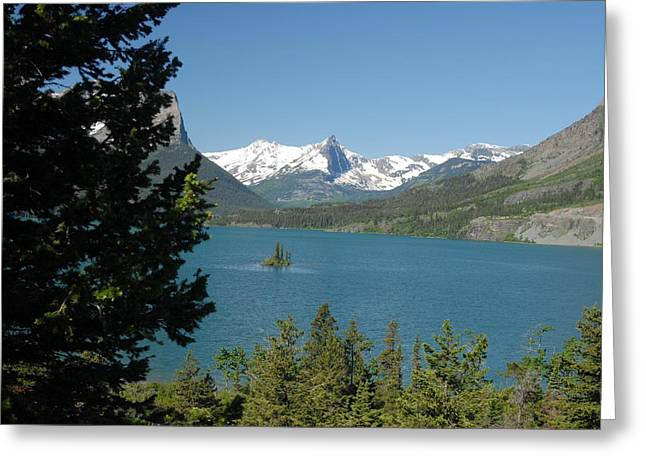 Lakeview In Glacier National Park Greeting Card