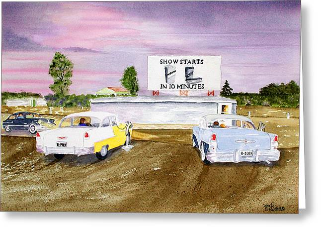 Lakevue Drive In Theater Greeting Card