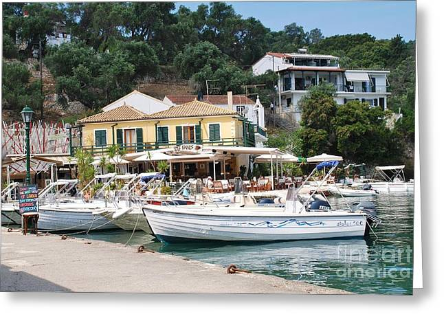 Lakka Harbour On Paxos Greeting Card
