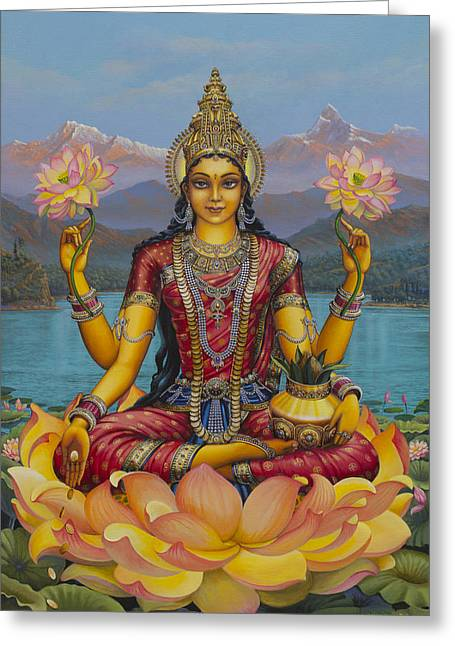 Lakshmi Devi Greeting Card