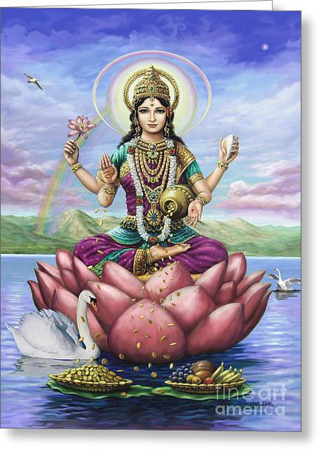 Lakshmi Goddess Of Fortune Greeting Card