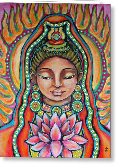 Lakshmi Greeting Card by Shelley Bredeson