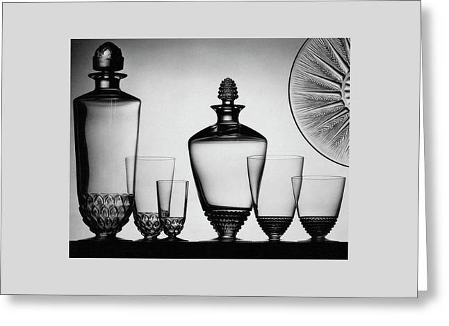 Lalique Glassware Greeting Card by The 3