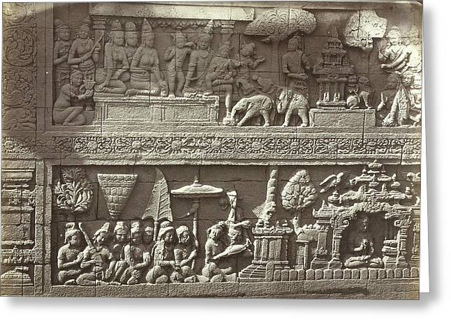 Lalitavistara Relief On The Main Wall Of The Second Gallery Greeting Card by Artokoloro