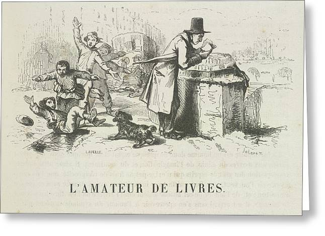 L'amateur De Livres Greeting Card by British Library