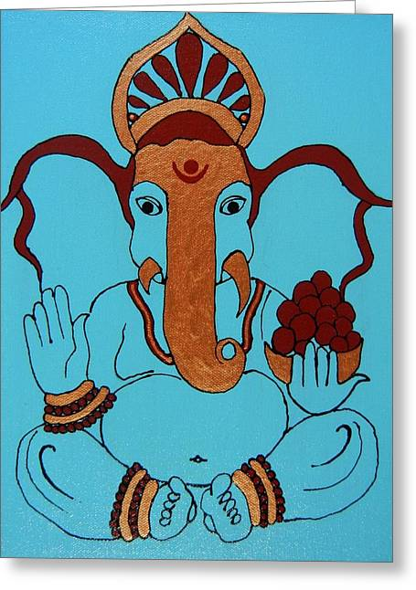19 Lambakarna-large Eared Ganesha Greeting Card