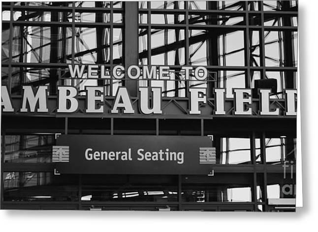Lambeau Field General Seating Greeting Card