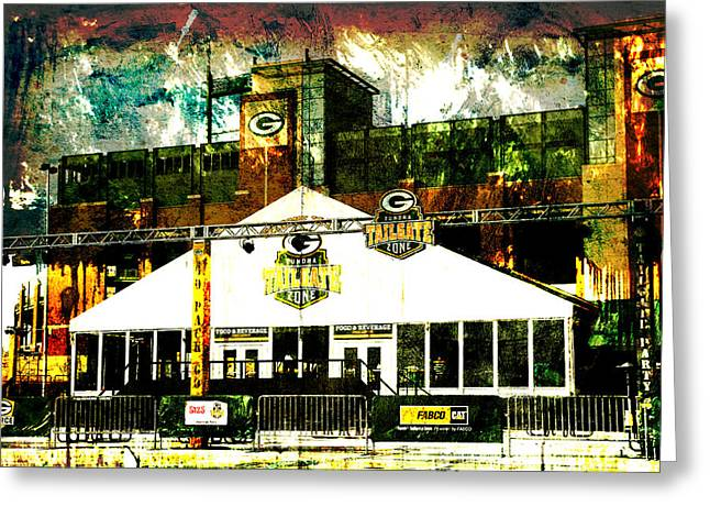 Lambeau Field - Tundra Tailgate Zone Greeting Card by Joel Witmeyer