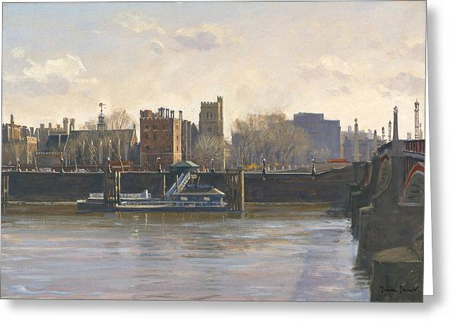 Lambeth Palace Oil On Canvas Greeting Card