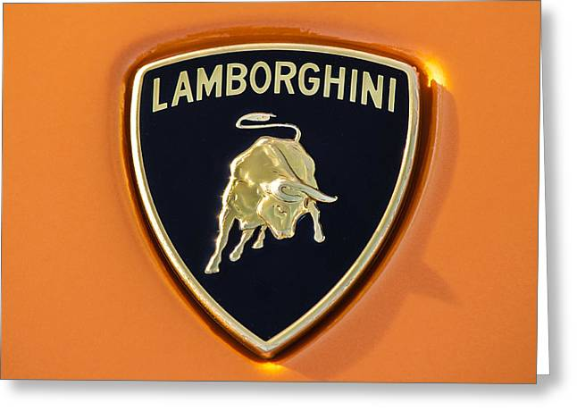 Lamborghini Emblem -0525c55 Greeting Card