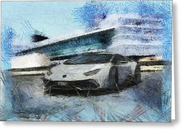 Lamborghini Huracan Greeting Card by Mario Carini
