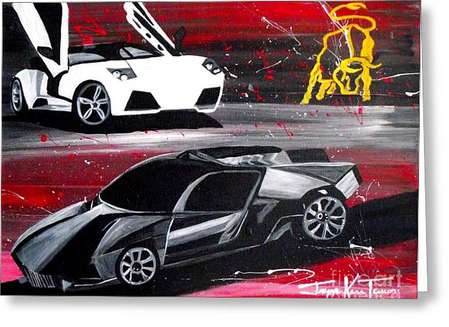Lamborghini Leverage Greeting Card