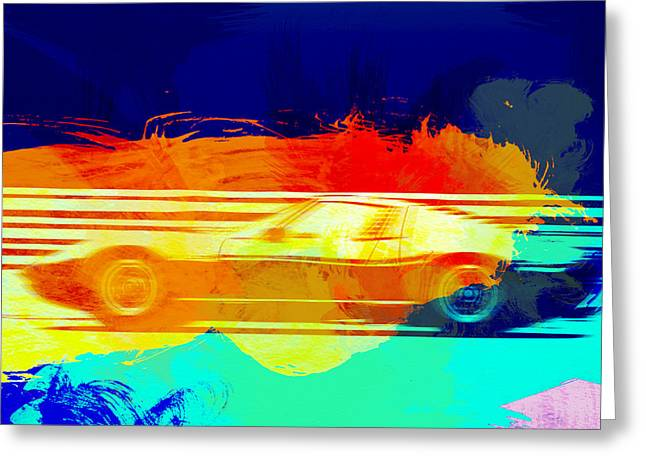 Lamborghini Miura Side 1 Greeting Card