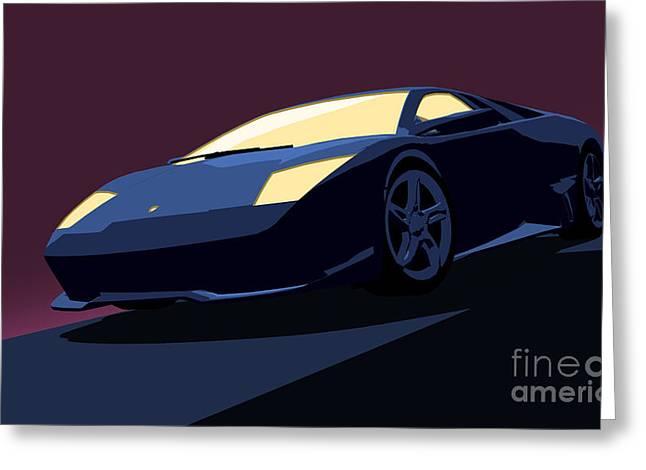 Lamborghini Murcielago - Pop Art Greeting Card by Pixel  Chimp