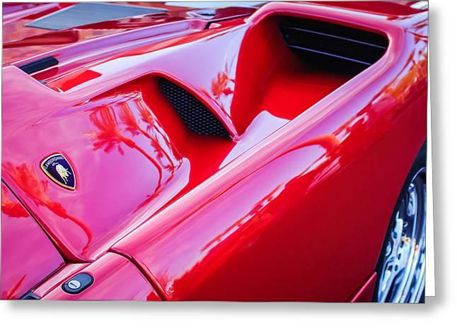 Lamborghini Side Emblem -0116c Greeting Card by Jill Reger