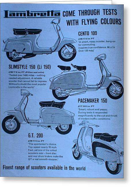 Lambretta Style Greeting Card