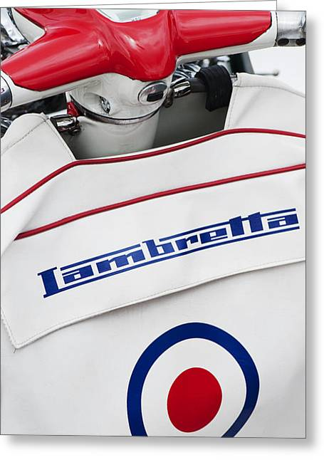 Lambretta Style Greeting Card by Tim Gainey