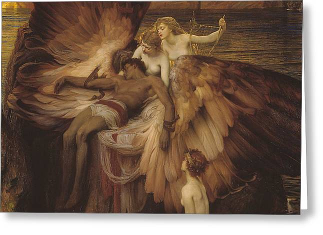 Lament Of Icarus Greeting Card