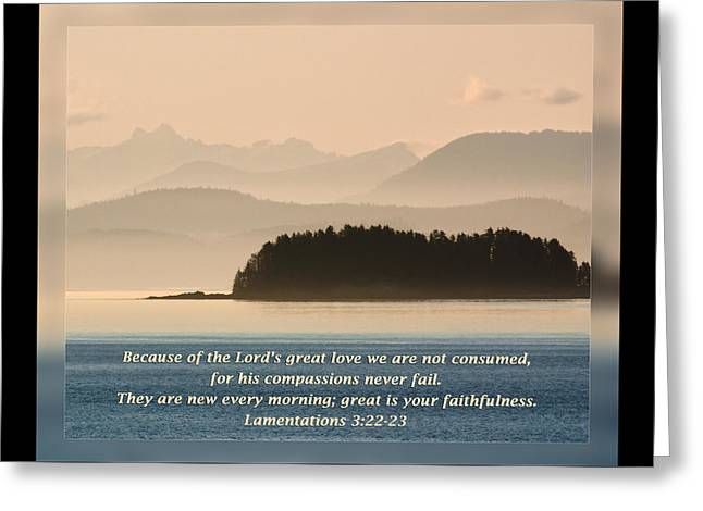 Lamentations 3 22-23 Greeting Card by Dawn Currie