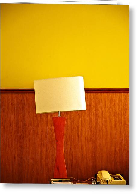Lamp And Desk Greeting Card by Jess Kraft
