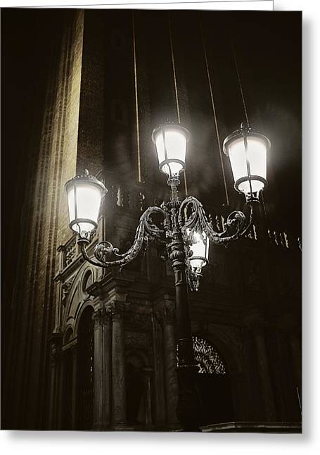 Lamp Light St Mark's Square Greeting Card