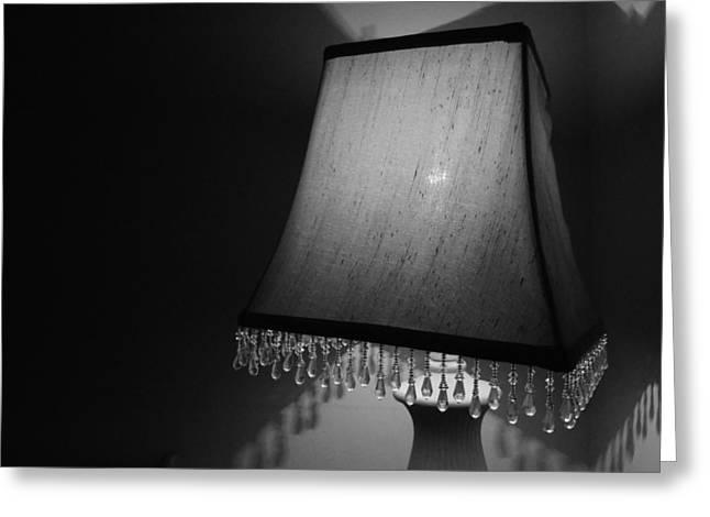 Lamp Shade Bw Greeting Card