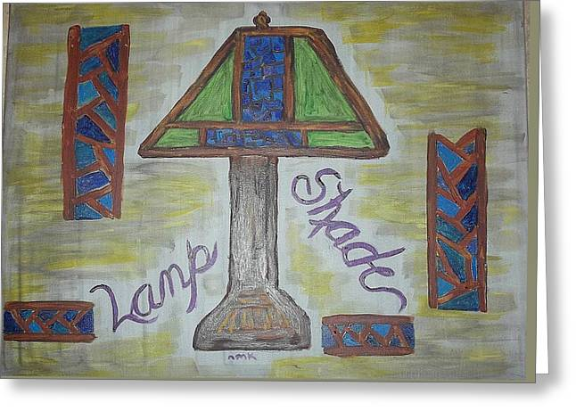 Lamp Shade Greeting Card by Nannette Kelly
