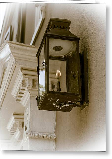 Greeting Card featuring the photograph Lamp Unto My Feet by Sennie Pierson