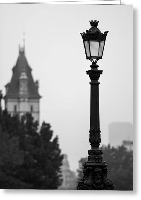Lamppost At Pont Neuf Paris Greeting Card