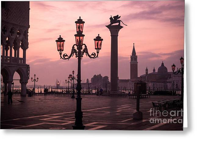 Lamppost Of Venice Greeting Card