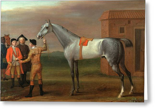 Lamprey, With His Owner Sir William Morgan, At Newmarket Greeting Card by Litz Collection