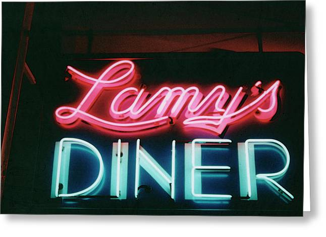 Lamys Diner Greeting Card by Mary Bedy