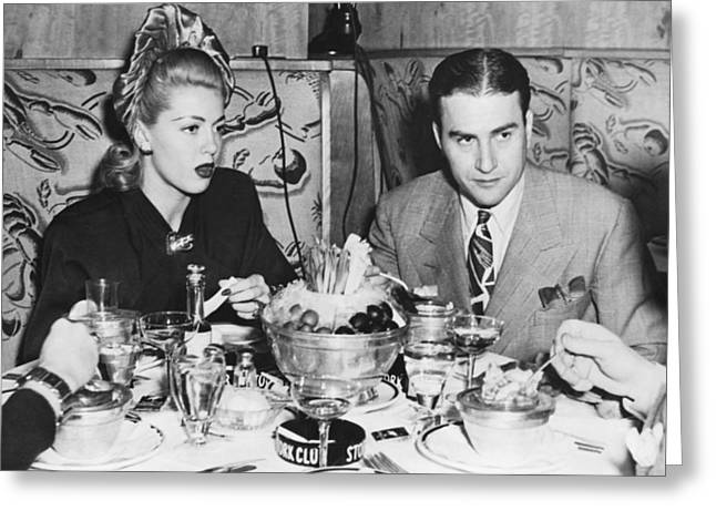 Lana Turner And Artie Shaw Greeting Card