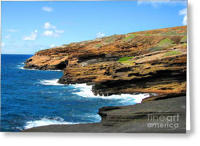 Greeting Card featuring the photograph Lanai Lookout by Kristine Merc