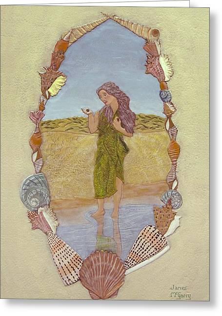 Lanassa Diva Of Molluscs  Greeting Card by James McGarry Leather Artist
