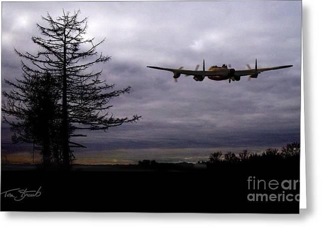 Lancaster Flight  Greeting Card by Tom Straub