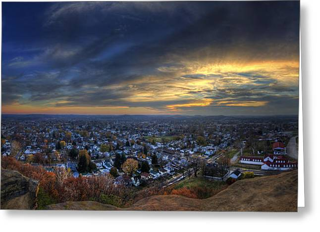 Lancaster Ohio Panorama Greeting Card