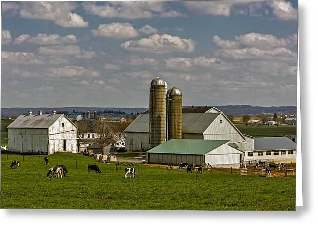 Lancaster Pennsylvania Farms Greeting Card by Susan Candelario