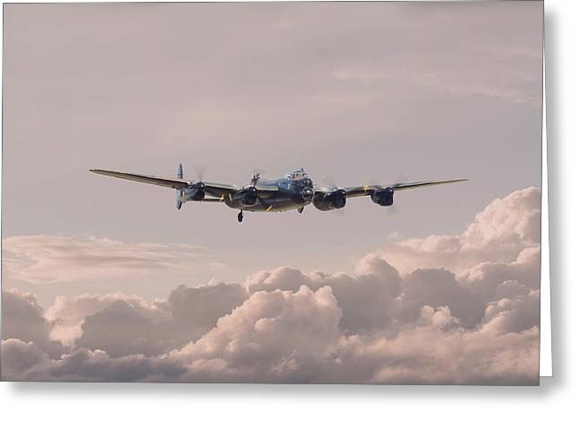 Lancaster - Summer Dawn Greeting Card by Pat Speirs