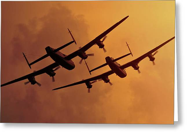 Lancasters Greeting Card by Ian Merton