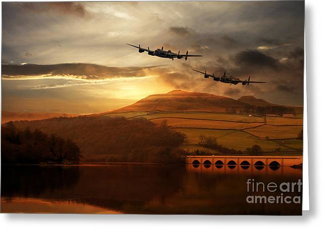 Lancasters Tour The Derwent Greeting Card