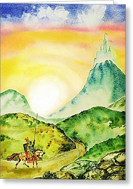 Lancelot Greeting Card by Hartmut Jager