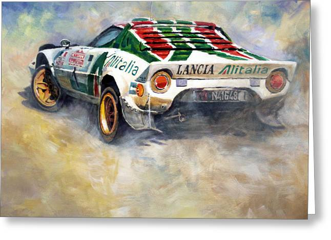Lancia Stratos 1976 Rallye Sanremo Greeting Card by Yuriy Shevchuk