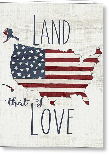 Land I Love Greeting Card