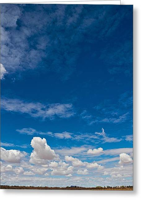 Land Of Sky Color Greeting Card by Nathan Larson