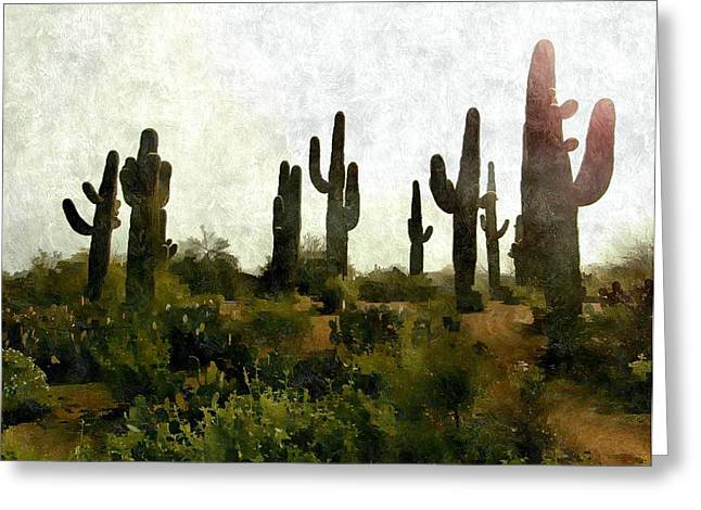 Land Of The Giants Greeting Card by Karyn Robinson