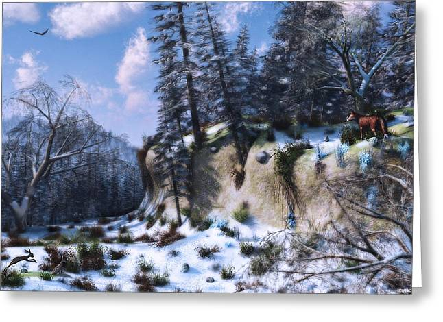 Land Of The Red Fox Greeting Card by Ken Morris