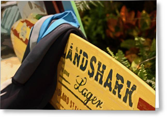 Land Shark Greeting Card by Tom Gari Gallery-Three-Photography
