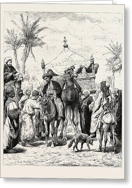 Landed Proprietor Returning From A Pilgrimage Greeting Card by Litz Collection